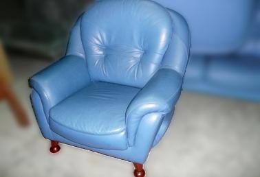 二手品皮沙发出售,☆优质水蓝色1+2+3半牛皮沙发