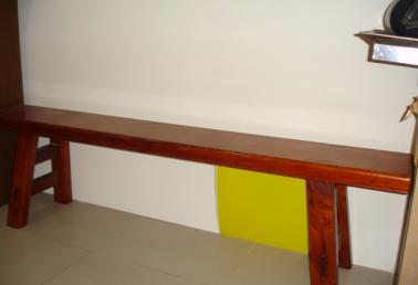 原木长板圆凳子图片
