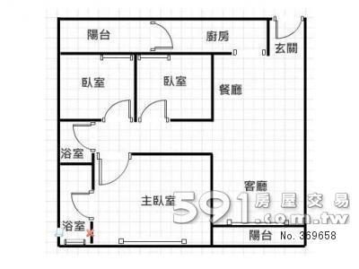 房屋室内平面图