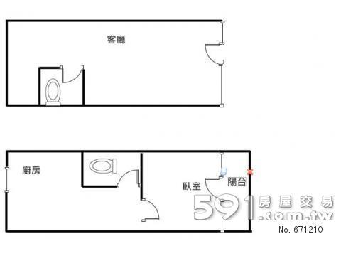 长方形房子内部结构图